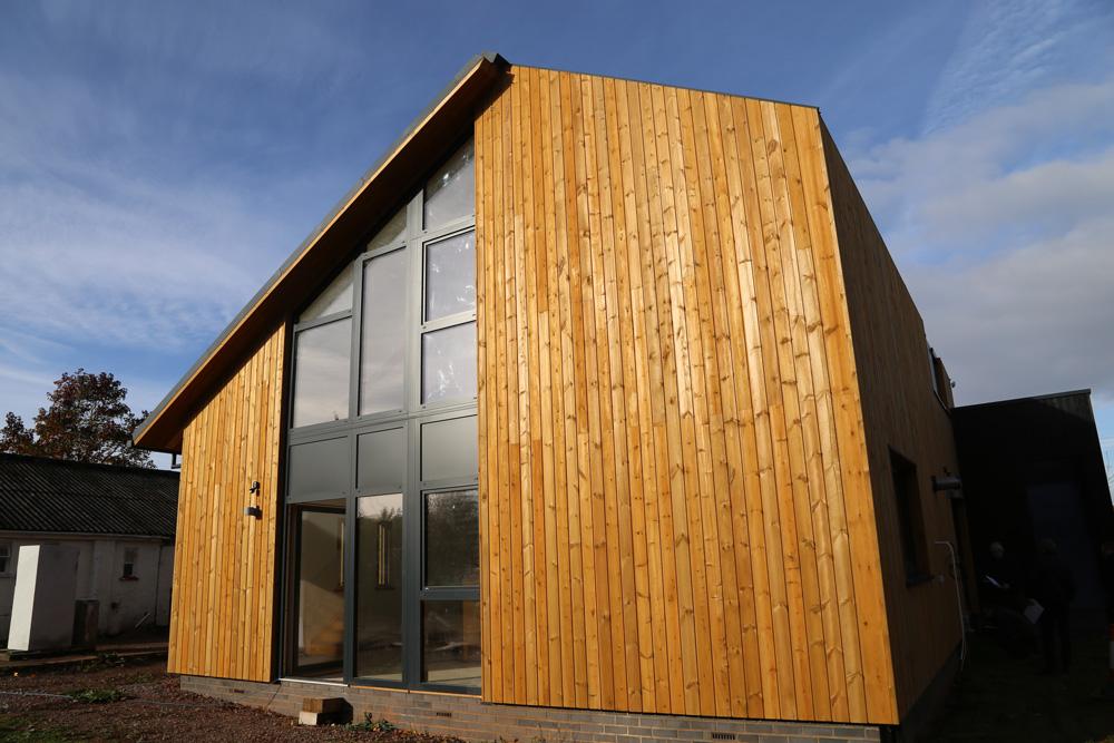 Solarsense Zero Carbon Hub Norclad Timber Cladding