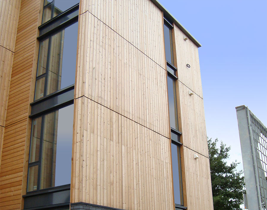 norclad timber cladding solutions siberian larch image 3. Black Bedroom Furniture Sets. Home Design Ideas