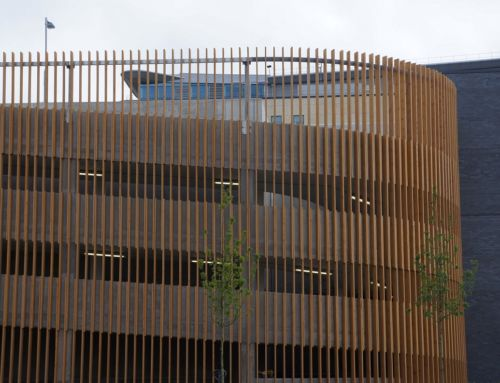 Timber Fin Cladding for Car Parks