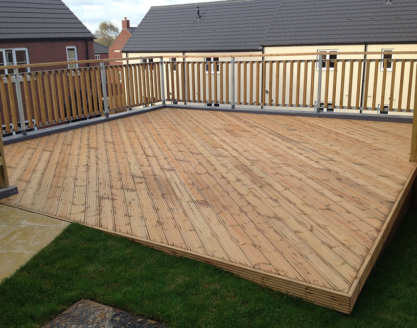 Norclad timber cladding solutions timber decking for Garden decking images uk